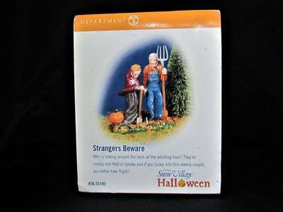 Department 56 Halloween Village Strangers Beware MIB