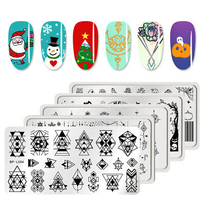 BORN PRETTY Halloween Nail Art Stamping Plates Manicure Nail Template Tip Salon