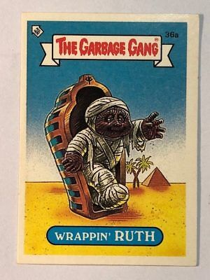 The Garbage Gang Australia Card Sticker Garbage Pail Kids 36a Wrappin' Ruth 1985