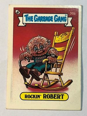 The Garbage Gang Australia Card Sticker Garbage Pail Kids 35b Rockin Robert 1985