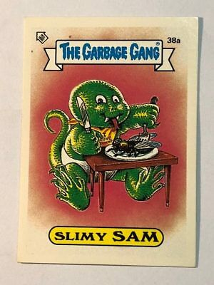 The Garbage Gang Australia Card Sticker Garbage Pail Kids Slimy Sam 38a 1985