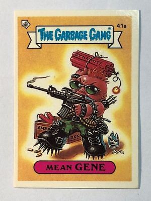 The Garbage Gang Australia Card Sticker Garbage Pail Kids 41a Mean Gene 1985