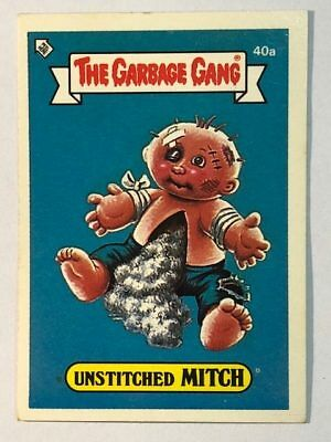 The Garbage Gang Australia Card Sticker Garbage Pail Kids Unstitched Mitch 1985