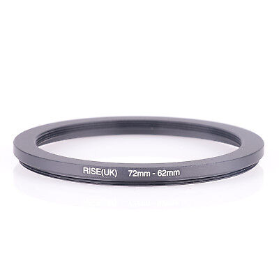 RISE(UK) 72mm-62mm 72-62 mm 72 to 62 Step down Ring Filter Adapter black
