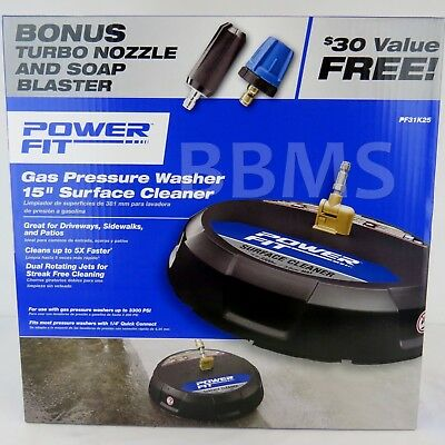 "PowerFit 15"" Surface Cleaner Gas Pressure Washer Attachment Concrete Driveway"