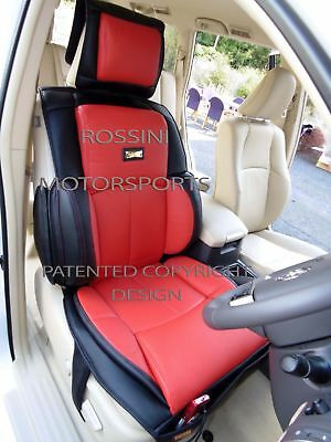 d - TO FIT A CITROEN BERLINGO, CAR SEAT COVERS - 2 FRONTS, YS01 RECARO, RED