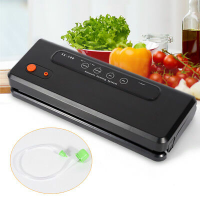 Kitchen Portable Black Sealing Machine Automatic Vacuum Sealer Lower Noise 150W