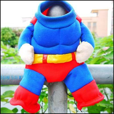 Superman Dog Puppy Halloween Outfit Costume