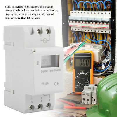 16A AC220V / AC110V /DC24VDigital LCD Programmable Rail Timer Time Relay Switch