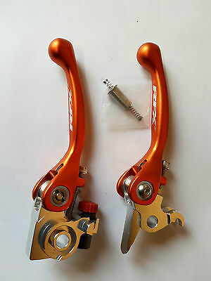 Flex Kupplungshebel Bremshebel Set Klappbar Orange KTM 250 350 400 450 500 530