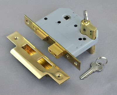MORTICE DEAD LOCK-EURO CYLINDER-57mm-6 FINISH-exterior entrance door-security