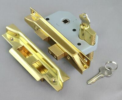REBATED MORTICE DEAD LOCK-EURO CYLINDER-46mm-6 FINISH-exterior front french door