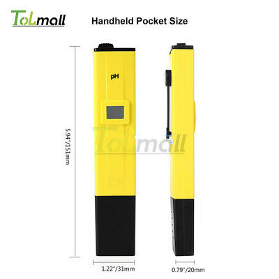 Digital PH Meter Water Tester Pen Pocket LCD Monitor Pool Aquarium Laboratory
