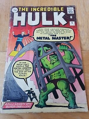 The Incredible Hulk #3 + #5 + #6 1963 First Series of 6
