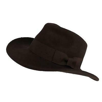 c4bba22ce NEW EPOCH HATS Company Men's Wool Felt Outback Hat with Grosgrain Band