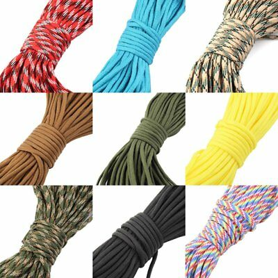 30M 550 Paracord Parachute Cord Lanyard Mil Spec Type III 7 Strand Core100FT O4