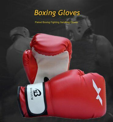 Grappling Boxing Gloves Punching Training Sparring Fighting Wraps Good OU