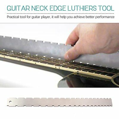 Guitar Neck Notched Straight Edge Luthiers Tool for Most Electric Guitars OU
