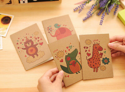 Cute Animals Mini Notebooks Small Notepads Blank Page Notes Pad Pocket Memo Pads