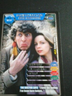 Dr who monster invasion ultimate card number 350 Fourth Doctor and Romana