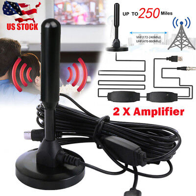 250 Mile Range Antenna TV Digital HD Skywire 4K Antena Digital Indoor HDTV 1080p