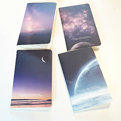 4pc Night Sky Galaxy Mini Cute Notebooks Small Notepads Lined Pocket Memo Pads