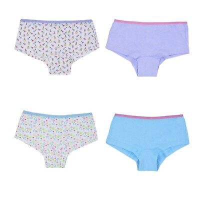 Girls 2 Pack Hipster Briefs Cotton Pants Shorts Girl's Knickers