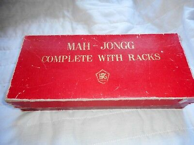 Mah-Jongg Game By Jackpot - H.p.gibson & Sons Ltd London - Complete Set -Vintage