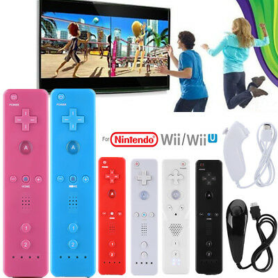 For Nintendo WiiU/Wii Console Handle Nunchuck Game Controller Remote Gamepad GF