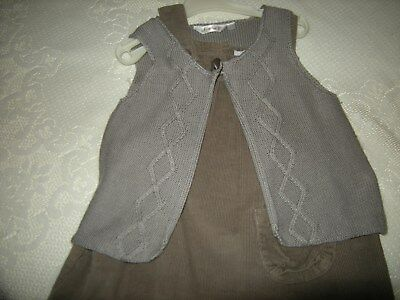 robe chasuble  fille taille 18 mois