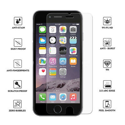 Premium Screen Protector Hard Tempered Glass Film for iPhone 6/7/8 Plus X XS XR