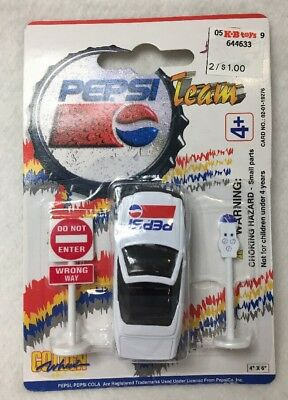Vintage Golden Wheel Pepsi Team Die Cast Convertible Toy Car NIB *Sealed* 19276