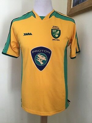 2003 - 2005 Norwich City Home Shirt, Division 1 Champions 2003/04 Adults S VGC