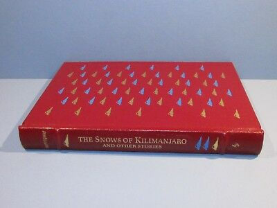 Easton Press THE SNOWS OF KILIMANJARO By Ernest Hemingway Full Leather Book