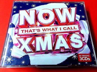 NOW THAT'S WHAT I CALL XMAS   2010  3 x CD   *EX/NM*  DARKNESS  STATUS QUO  ABBA