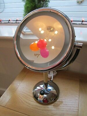 Boots No7 Illuminated Magnifying Mirror  Normal, plus 5x magnification