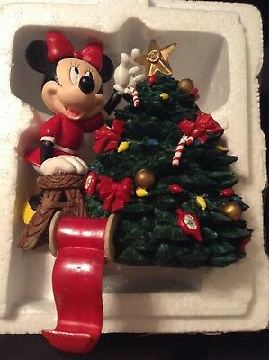 Disney Santa's Best Stocking Hanger Holder Minnie Mouse Putting The Star On