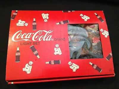 Vintage Coca Cola Light Set 1993 Bottles And Bears Rare