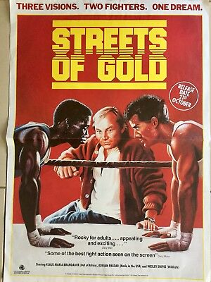 "Streets Of Gold Original Video Film Poster  23"" X 16 1/2""  1986"