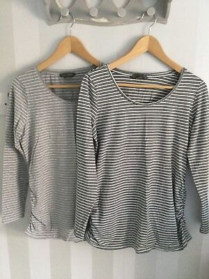 Two Blooming Marvellous Long Sleeved Maternity Tops Size Medium