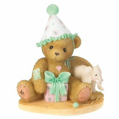 Enesco Cherished Teddies 4020579 Eighth Birthdays Are Trunks Of Fun NIB