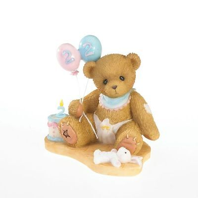 Enesco Cherished Teddies 4020573 Happy Birthday Two You Birthday Figurine NIB