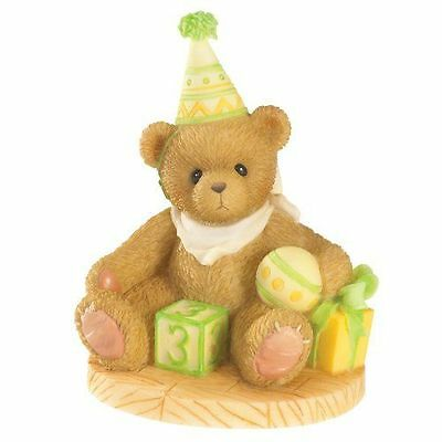 Enesco Cherished Teddies 4020574 Free To Be Three Birthday Figurine NIB