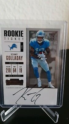 Kenny Golladay Detroit Lions Football Trading Card Autograph 2017 Contenders
