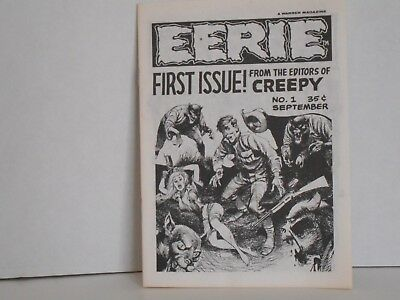 Original First Issue #1 EERIE Small Size Horror Comic Magazine September 1965