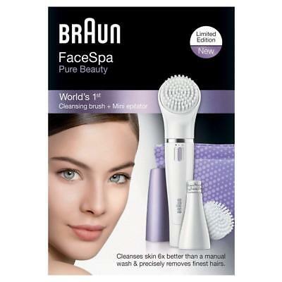 Braun Purple Face 832 Facial Epilator and Cleansing Brush