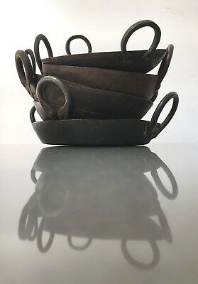 Vintage Indian Cast Iron Kadai. For Use In Fire Bowl, Or In Kitchen / Garden.