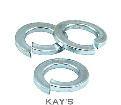 M10-10mm RECTANGULAR SPRING WASHERS COIL LOCK WASHER ZINC PLATED