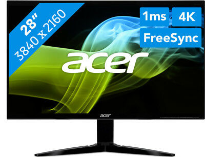 Acer Predator KG281Kbmiipx - 4K Ultra HD GAMING Monitor - 1ms AMD Free-Sync LSP