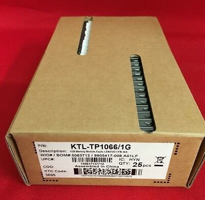 LOT OF 25- Kingston KTL-TP1066/1G 1GB DDR3 SDRAM 1066MHz SO DIMM 204-pin RAM-NEW